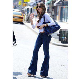 New Hudson Ferris Flap Flare Dark Wash Jeans - 32